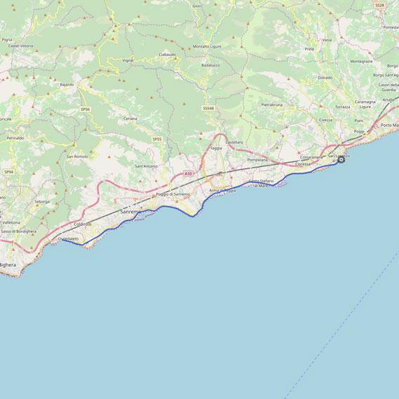 La pista ciclabile di Sanremo - Area 24